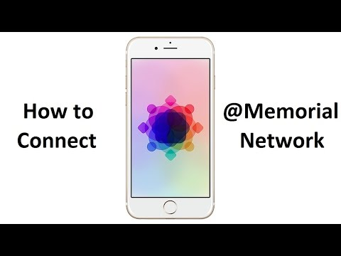 How to connect to @Memorial network - iPhone/iPad