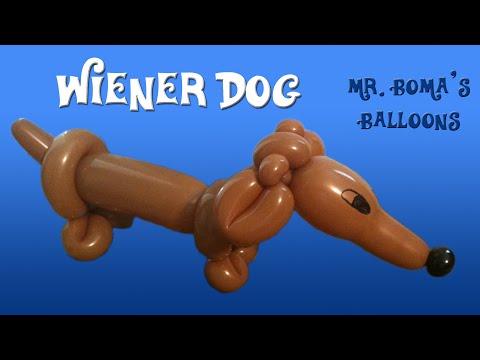 Wiener Dog Balloon Animal Tutorial (Sausage Dog) (Balloon Twisting & Modeling #14)