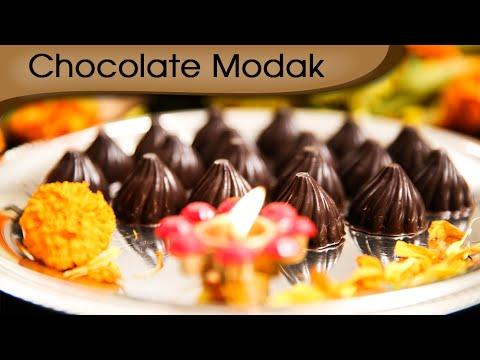 Ganesh Chaturthi Special - Chocolate Modak - Ganpati Special Sweet Dish Recipe By Ruchi Bharani