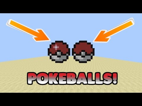 How To Make A Pokeball In Minecraft! | Minecraft Pixel Art