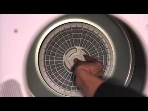 Cleaning the Lint Filter - Haier HLP141E Electric Vented Tumble Dryer