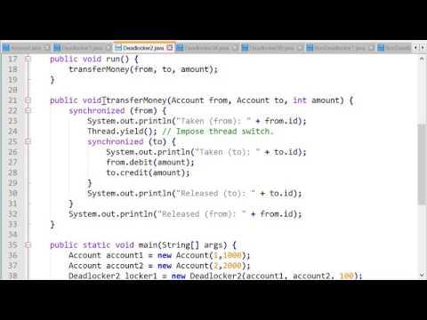 Java Concurrency - Avoiding Deadlocks