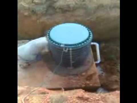Super Septic Service Installing Septic Tank Risers.flv
