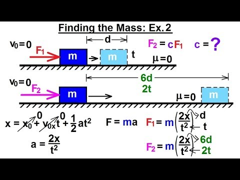Physics - Mechanics: Newton's Laws Examples (22 of 25) Finding the Mass: Ex.2