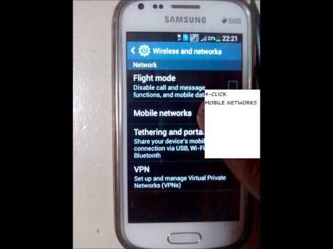Mobile Internet Setting - Samsung GalaxyS Duos 2