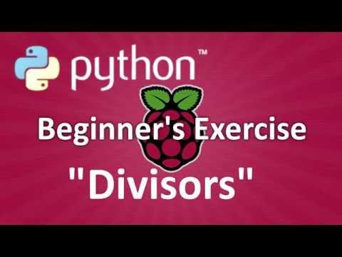 Python Beginner's Exercise: Divisors