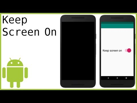How to Keep the Screen ON in an Android Activity - Android Studio Tutorial