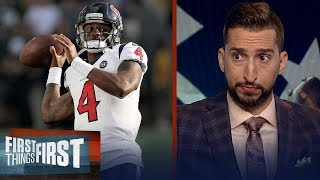 Deshaun Watson & Texans can win AFC South if they protect him — Nick | NFL | FIRST THINGS FIRST