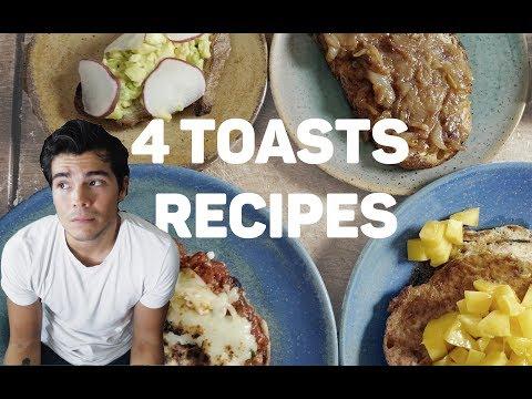 4 EASY TASTY TOAST RECIPES - Avocado, Onion Jam, French and Pizza