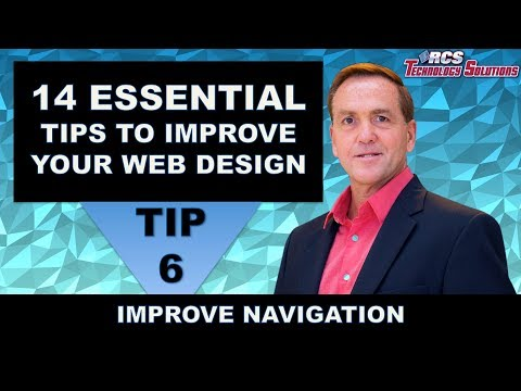 Website Design Boston, 14 Website Design Tips, Tip #6 Improve Navigation