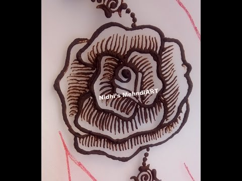 How to Draw Rose  Flower Henna Mehndi Design Step by Step Tutorial