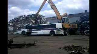 Shredding a bus