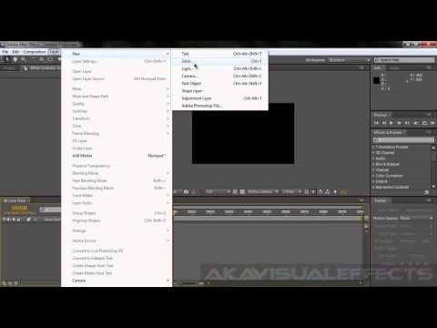 Animating Lens Flares In Adobe After Effects CS5.5
