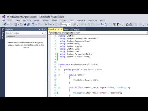 Visual C# Tutorial: Message Boxes