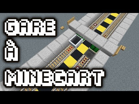 GARE A MINECART SIMPLE ET RAPIDE | Tuto Redstone #93 | Minecraft