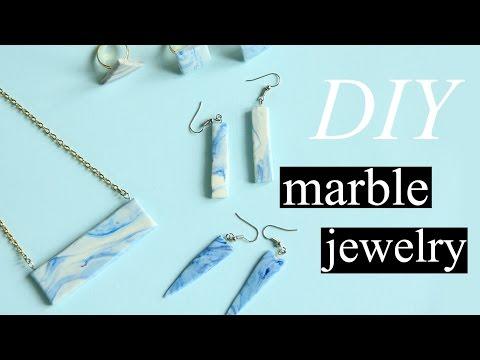DIY Marble Clay Jewelry | Membuat Aksesoris Motif Marmer