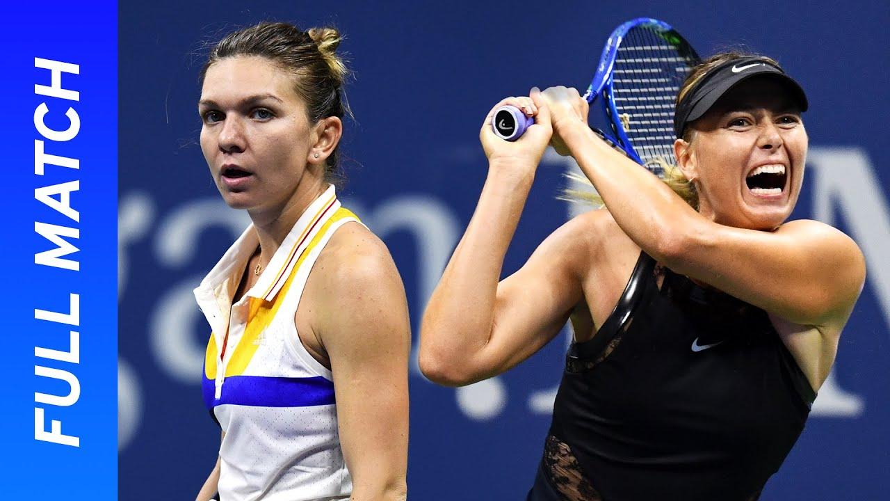 Maria Sharapova's stunning Grand Slam return!   vs Simona Halep   US Open 2017 Round 1