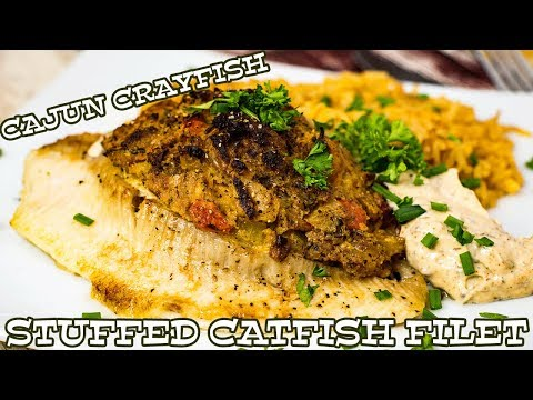Cajun Crayfish STUFFED Catfish   The Starving Chef