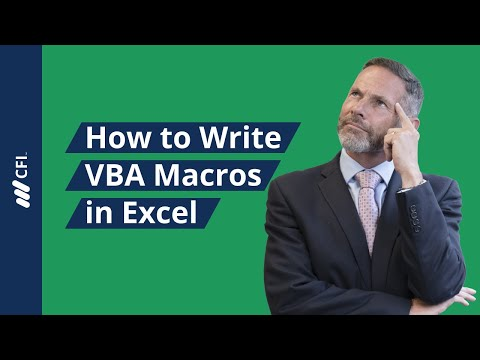 How to Write Macros in Excel  - VBA Tutorial   Corporate Finance Institute