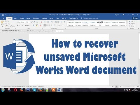 How to recover Unsaved or accidently closed MS word documents