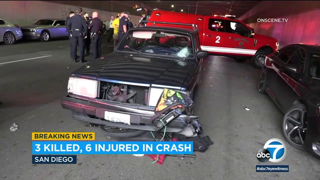 San Diego accident leaves 3 dead, others injured when car crashes through tents | ABC7