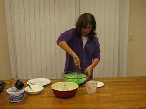Maria makes a jello mold