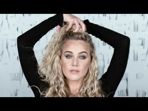 Curly Hairstyles Tutorial: Half Top Knot for Long Curly Hair featuring India Batson