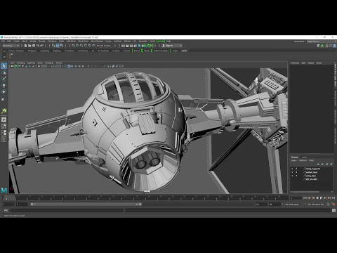 Tie Fighter Modelling in Maya Intro