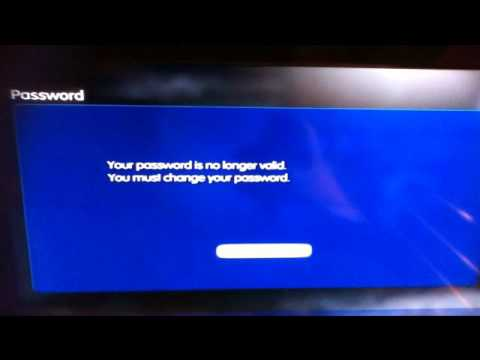 PSN back online but can't change password