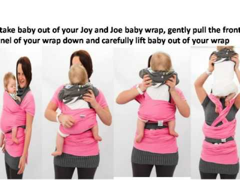 How to take your baby out of your Joy&Joe Wrap baby carrier