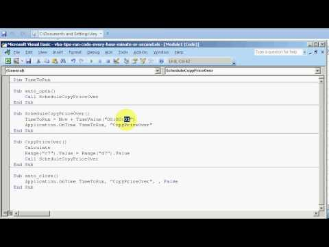 ExcelExperts.com -VBA Tips - Run Code Every Hour, Minute or Second