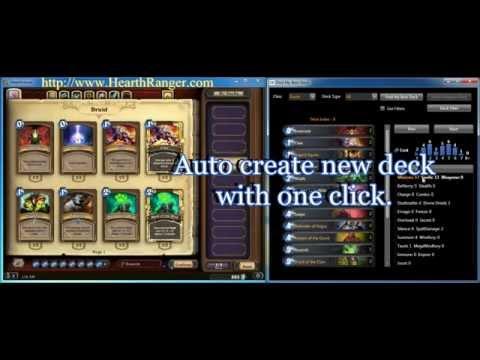 Hearthranger auto deck builder demo
