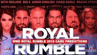 WWE Royal Rumble 2018 Predictions Card