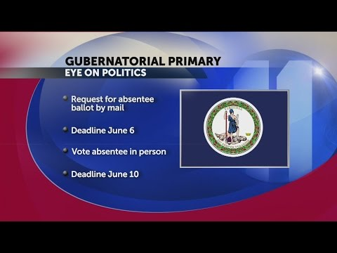 Deadline to submit absentee ballot by mail for Virginia primary tomorrow