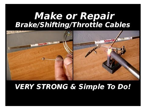 How To Repair or Make Stainless Brake/Shifting/Throttle Cables