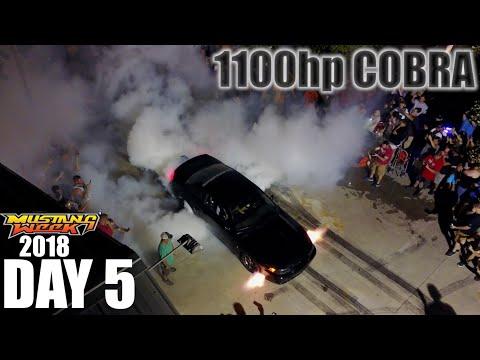 VLOG - DAY 5 INSANE 1100hp Terminator Cobra BURNOUT Mustang Week 2018