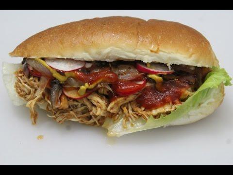 PULLED CHICKEN SUB SANDWICH  ||  how to make pulled chicken sandwich