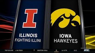 Illinois at Iowa - Football Highlights