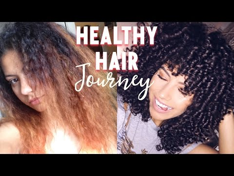 HEALTHY HAIR JOURNEY | Bleached & Broken to Bouncy & Beautiful in ONE Year  *WITH PICTURES*