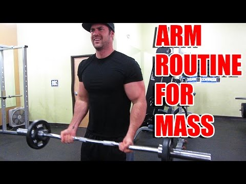 Killer Arm Routine for Building Mass - Supersets & Dropsets working Biceps and Triceps