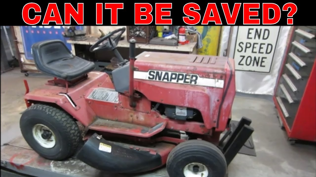 Junked Snapper Mower From The Town Dump.