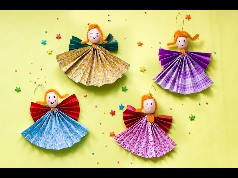 Christmas Paper Angels Ornament