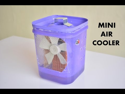 How to Make Air Cooler at Home - Easy Way -  Simple Way