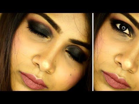 Intense Black Smokey Eye Makeup Tutorial | Rabia Skincare