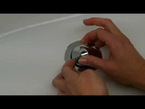 How to Remove a Pop-up Tub Drain Plug Stopper - Easy - No screw, no tools needed.