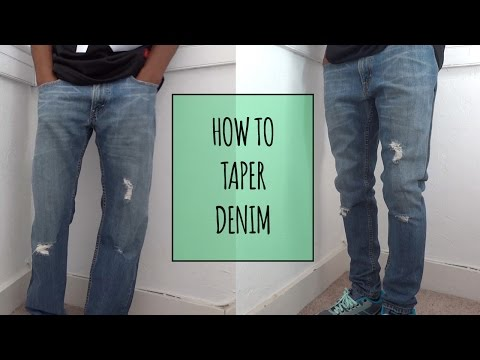 How to Taper Denim | ElevatedIke