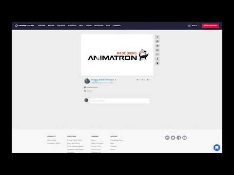 Sharing your Animatron projects