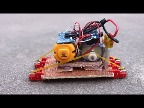 How To Make a Super Small Electric RC TANK from Lighters