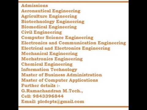 BioMedical B.Tech  in Tamilnadu , Engineering Programmes NO DONATION , NO CAPITATION ,
