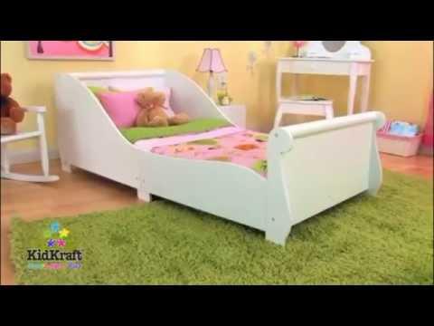 Kids Childs Toddler Junior My First Sleigh Cot Bed KidKraft Bedroom Furniture
